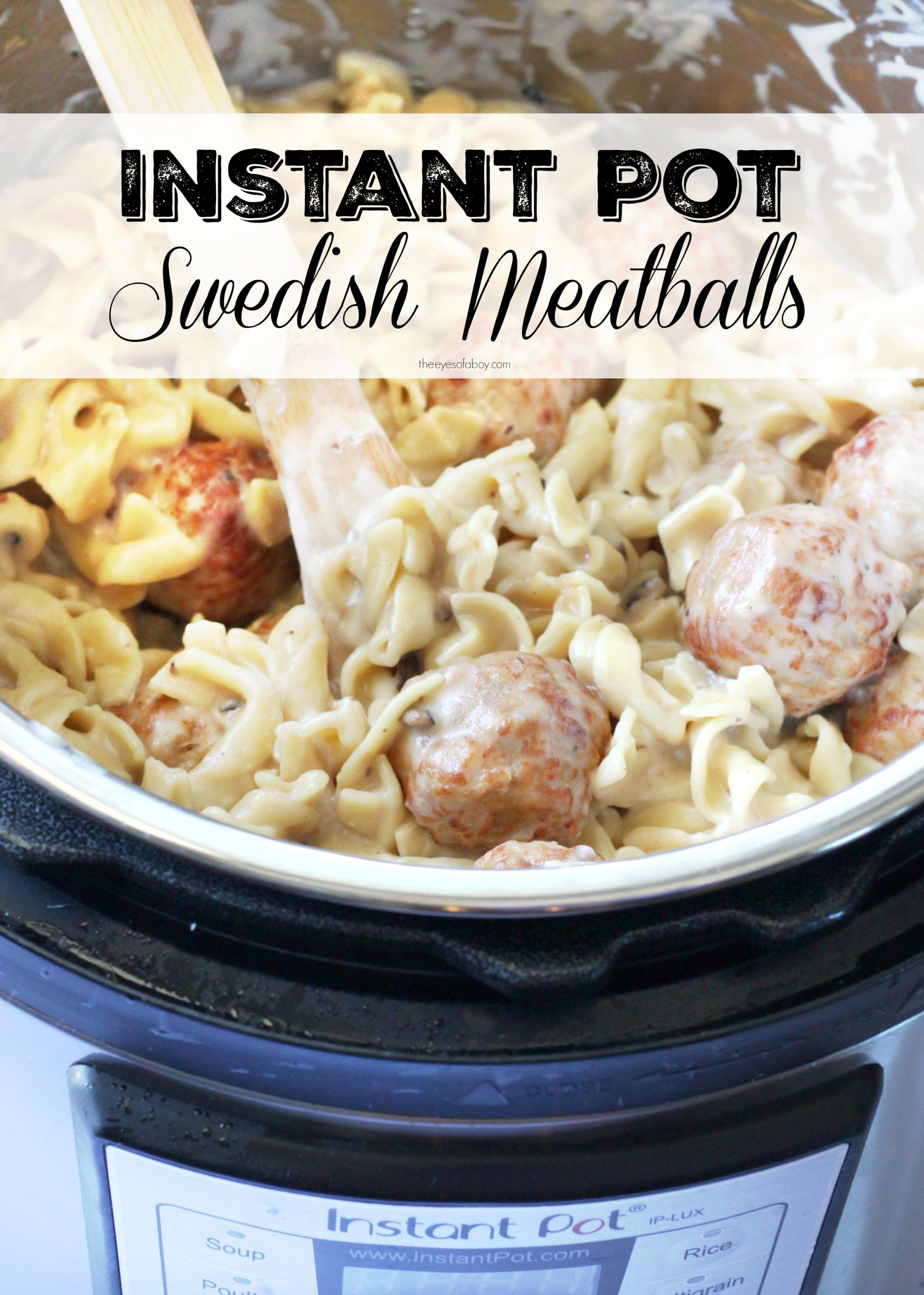 Instant Pot Swedish Meatballs Recipe That S Creamy Dreamy