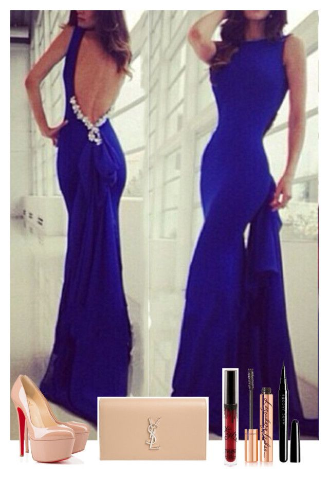 Rotita Royal Blue Backless Evening Gown