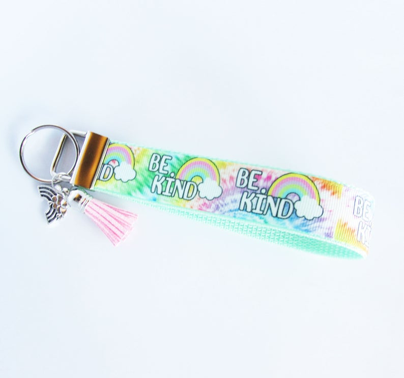 Leather Keychain Valentine/'s Day Gift Mother Of The Bride And Groom Gift Retirement Gift For Woman Tassel Key Fob