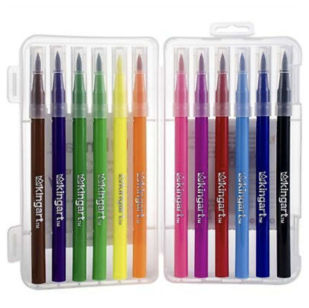 Watercolor Brush Tip Markers Set Of 12 Colors Brush Tip Markers