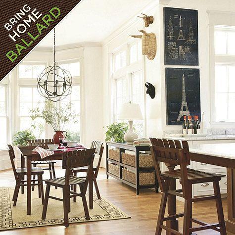 orb chandelier ballard designs dining nookdining room - Orb Chandelier Dining Room