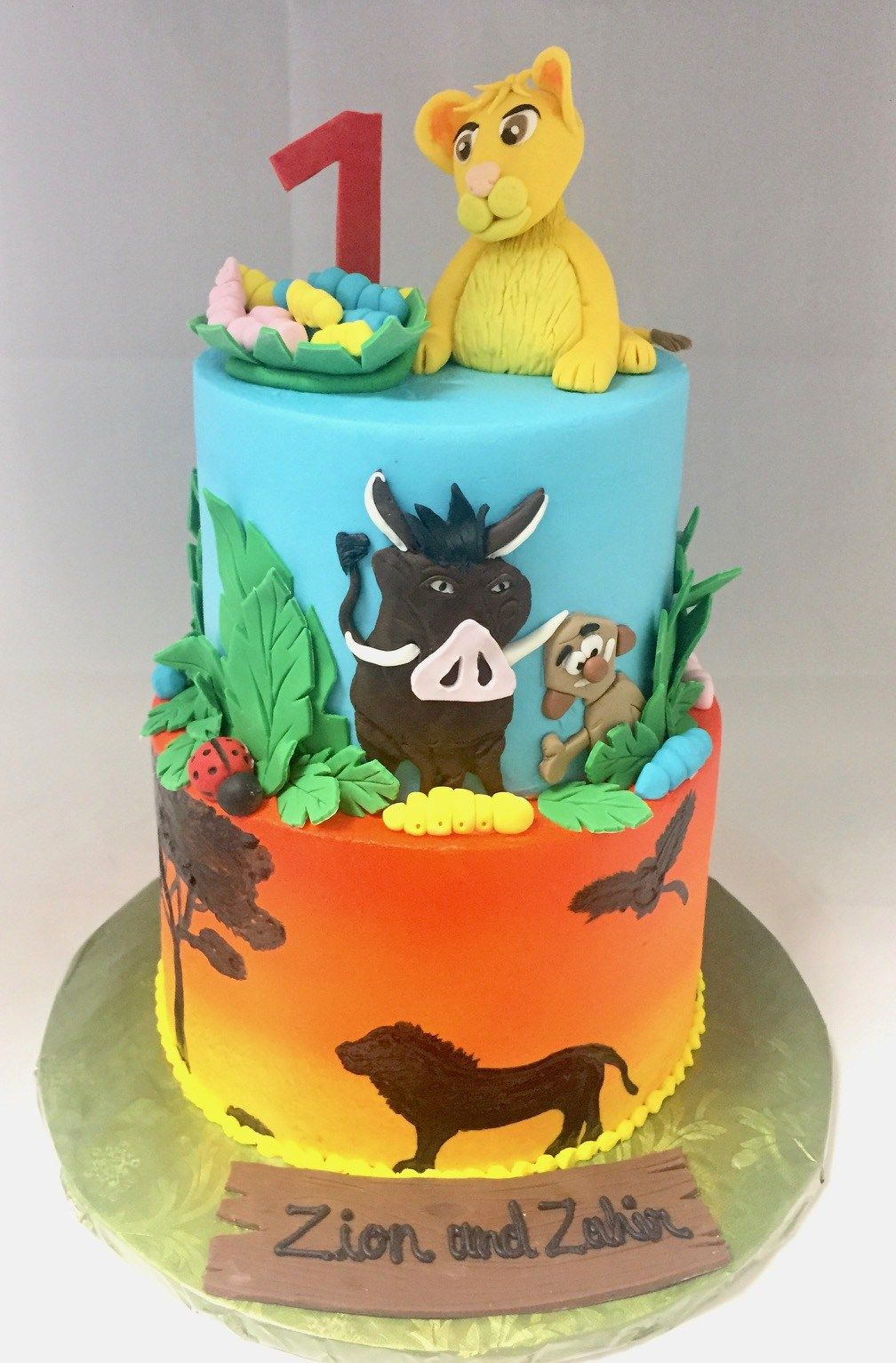2 Tier Lion King 1st Birthday Cake Confection Perfection Cakes