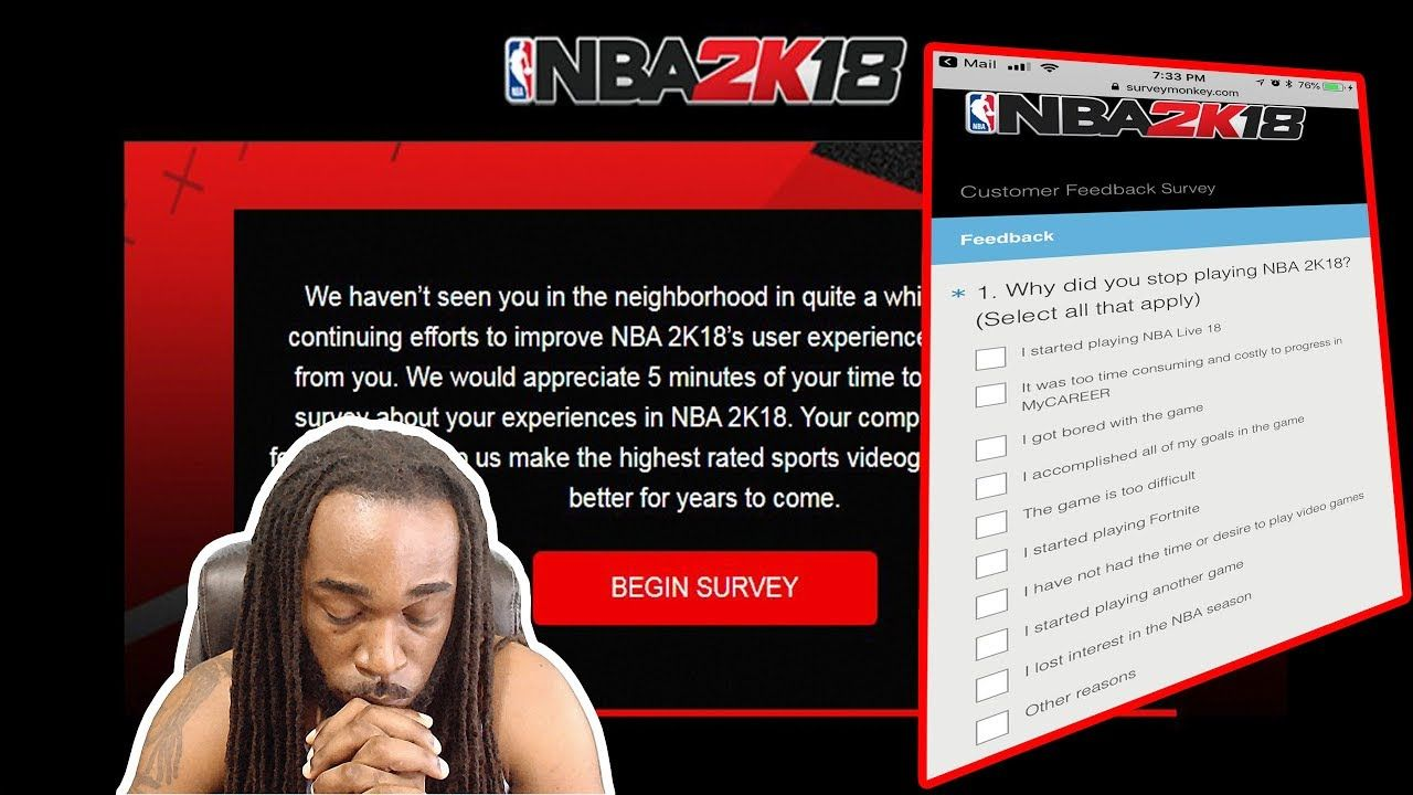 Nba 2k18 Survey Why Did You Stop Playing Nba 2k18 Is This An