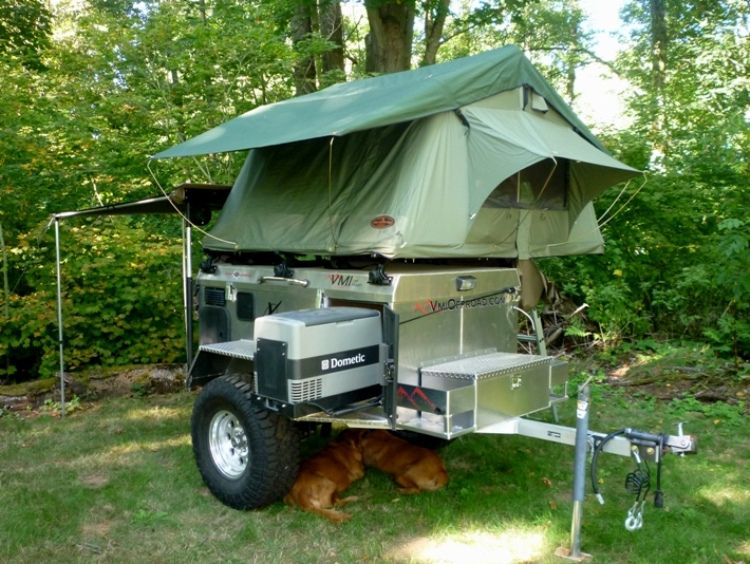4x4 trailer with roof top tent