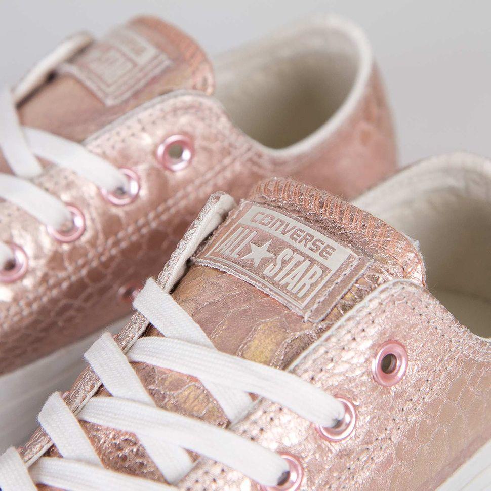 converse rosa gold