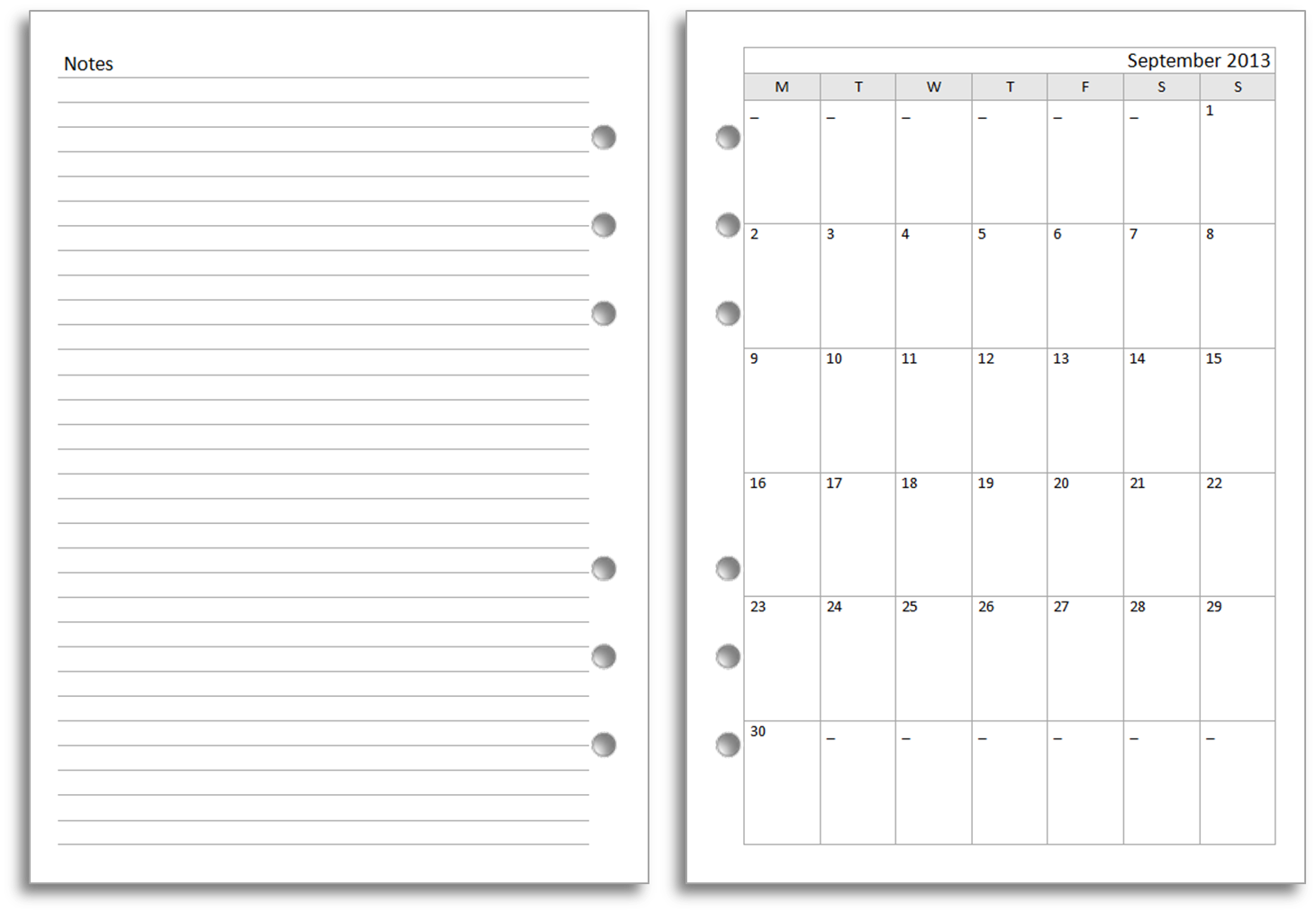 My Life All In One Place: New Filofax A5 Diary Layout For Free Download    Diary Word Template