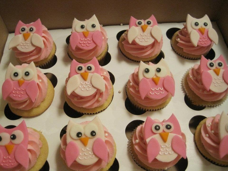 Pink owl birthday cupcakes Cupcake birthday cake, Owl