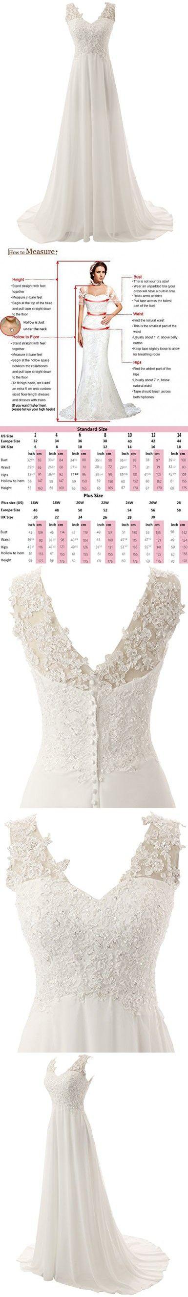 Jaeden elegant lace beach wedding dresses chiffon v neck a line long