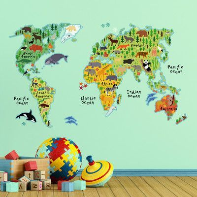 WallPops! Home Decor Line Kids World Map Wall Decal | Products
