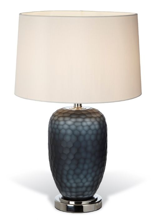 Perth Smoked Glass Table Lamp With Images Glass Table Lamp