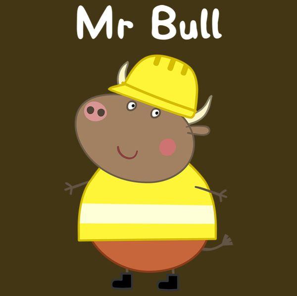 Mr Bull Peppa Pig Teddy Peppa Pig Kids Cards