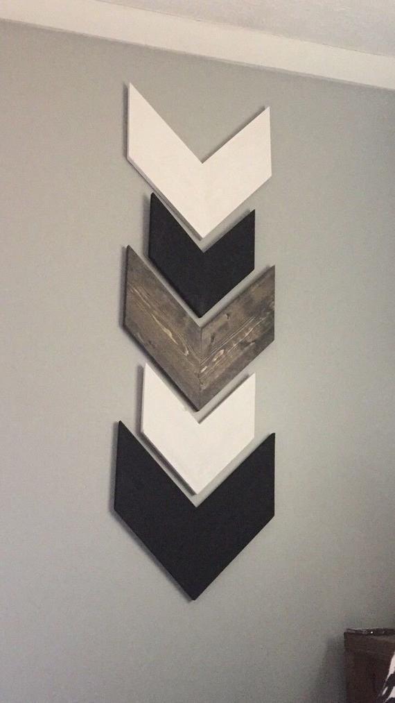 Farmhouse Arrows, Rustic Arrows, Nursery, Black and White, Chevron Arrow Wall Decor. Tribal Arrows, Wooden Arrows, Arrow Decor, wall arrows