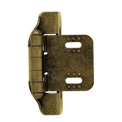 Liberty Antique Brass Semi Wrap 1 4 In Overlay Cabinet Hinge 1 Pair H01911c Ae O Overlay Hinges Overlay Cabinet Hinges Inset Hinges
