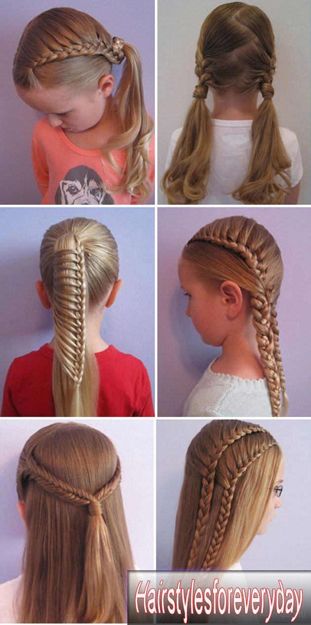 Everyday Hairstyles For School Children Easy Hairstyles Hair Styles Kids Hairstyles