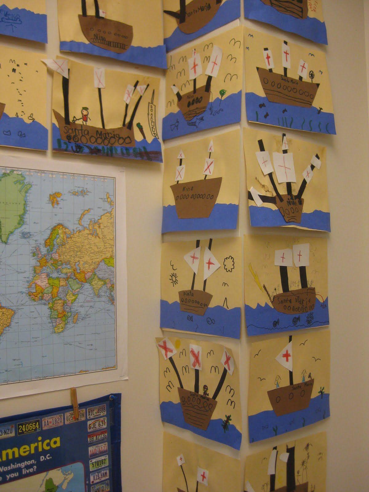 Christopher Columbus Classroom Art Projects Kindergarten Activities School Crafts