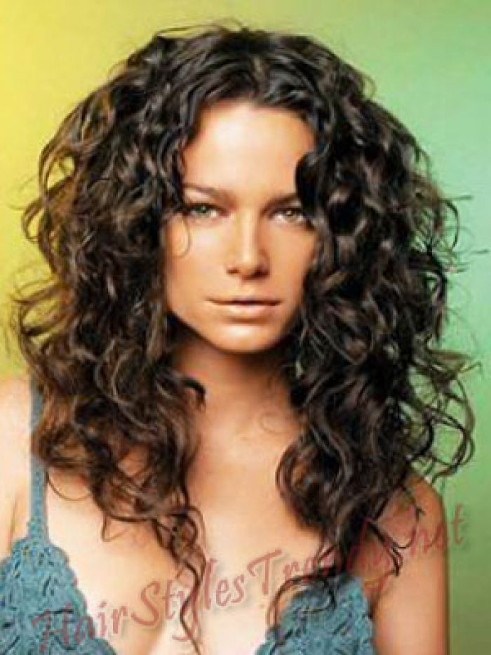 Curly Hair Long Style and cool hair color