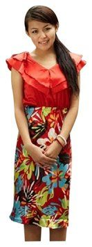 $19.99 with free shipping: Shabby Apple short dress Orange/Red Silk on Tradesy