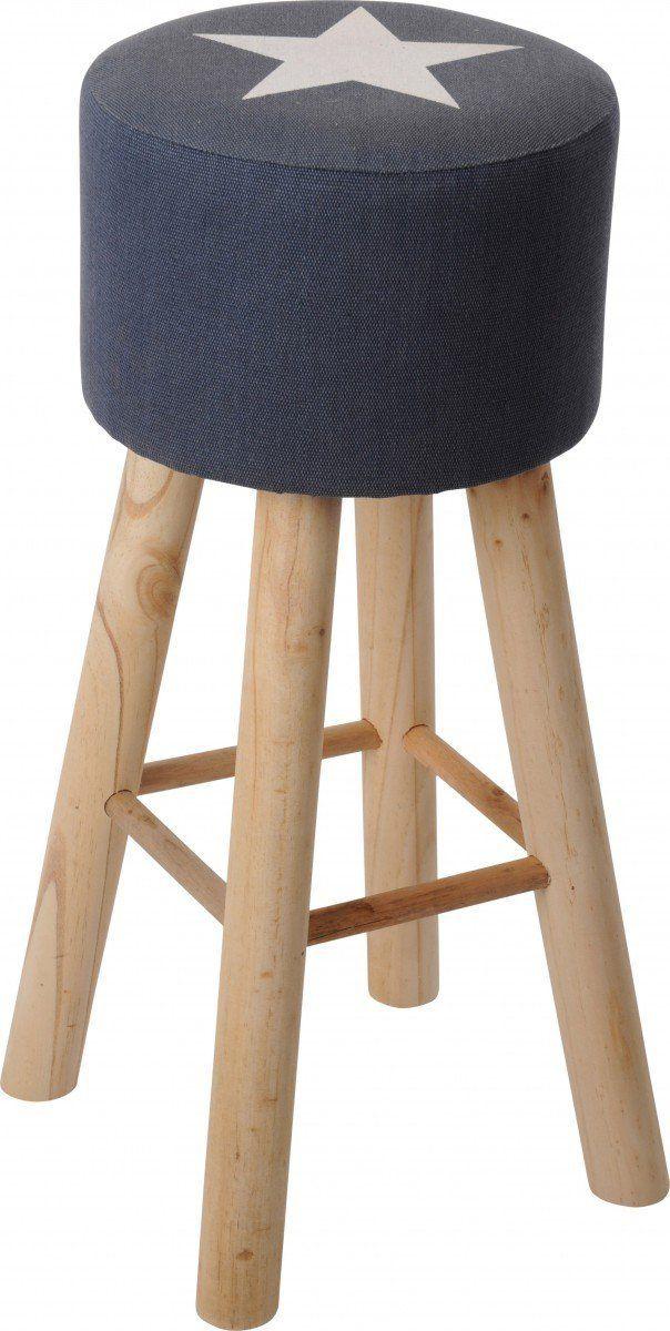 Hocker Sitzhocker Barhocker mit Stern 66x30cm Amazonde Kche  Haushalt  Sitzgelegenheiten