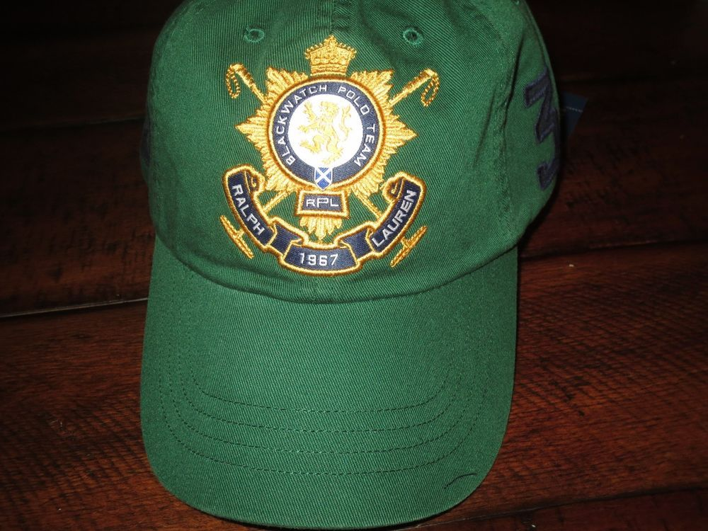 8e5de2e593e NWT Polo Ralph Lauren hat BLACKWATCH baseball cap leather strap Forest  Green  PoloRalphLauren  BaseballCap