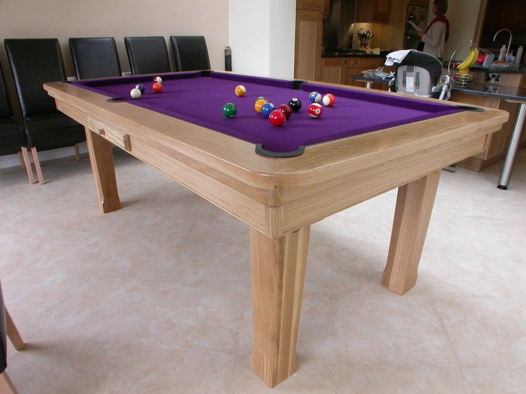 Informal Modern Dining Pool Table With Warm Fusion Black