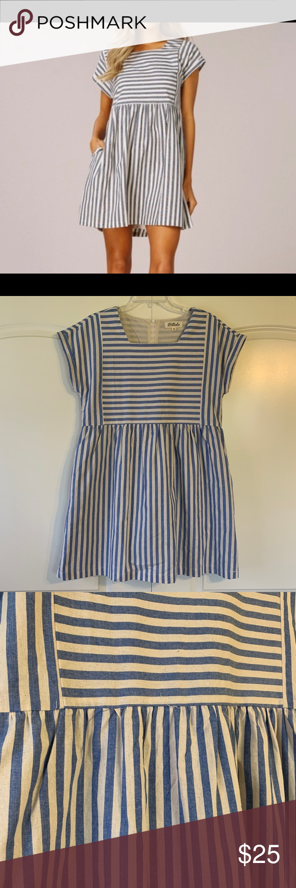 Listicle Striped Baby Doll Dress Doll dress, Womens