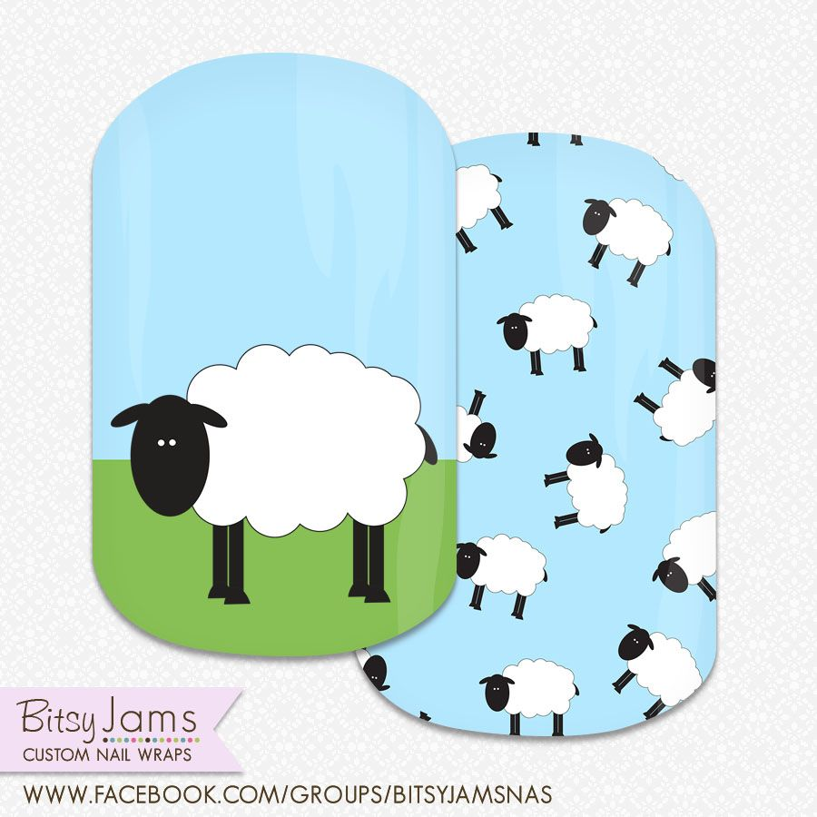 Custom Nail Wraps - Sheep by BitsyJams - Jamberry NAS | verde ...