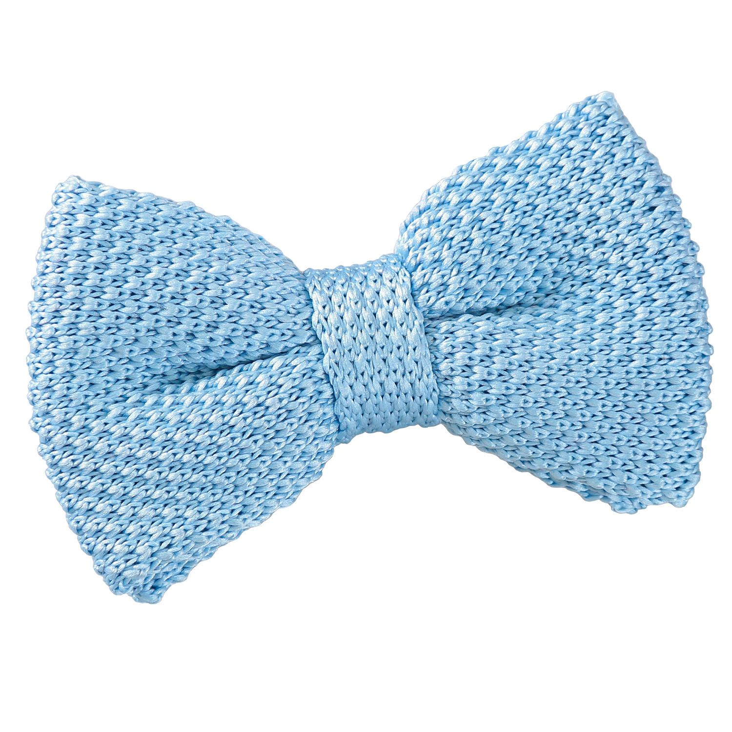 Baby Blue Knitted Pre-Tied Bow Tie for Boys   Boys bow ...
