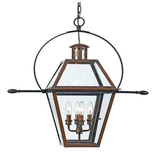 Quoizel Rue De Royal 4 Light Large Outdoor Hanging Lantern Outdoor Pendant Lighting