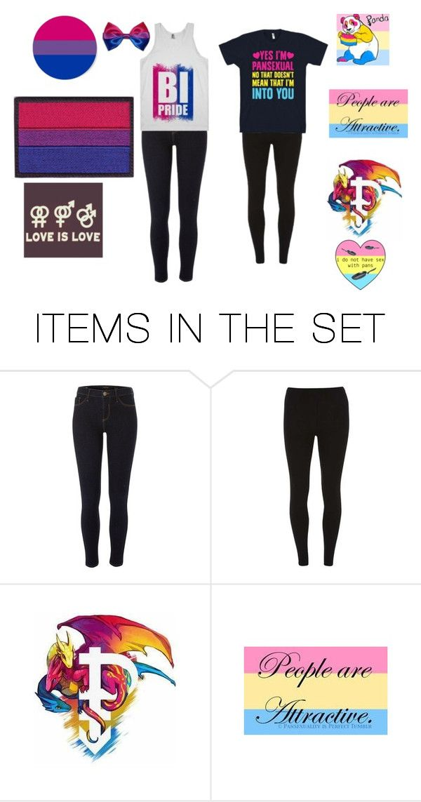 """Bi and Pan friends"" by emo-poison ❤ liked on Polyvore featuring art"