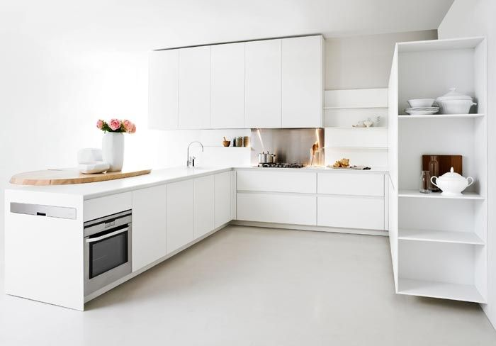 Brown white kitchen | small apartments | Pinterest | Square meter ...