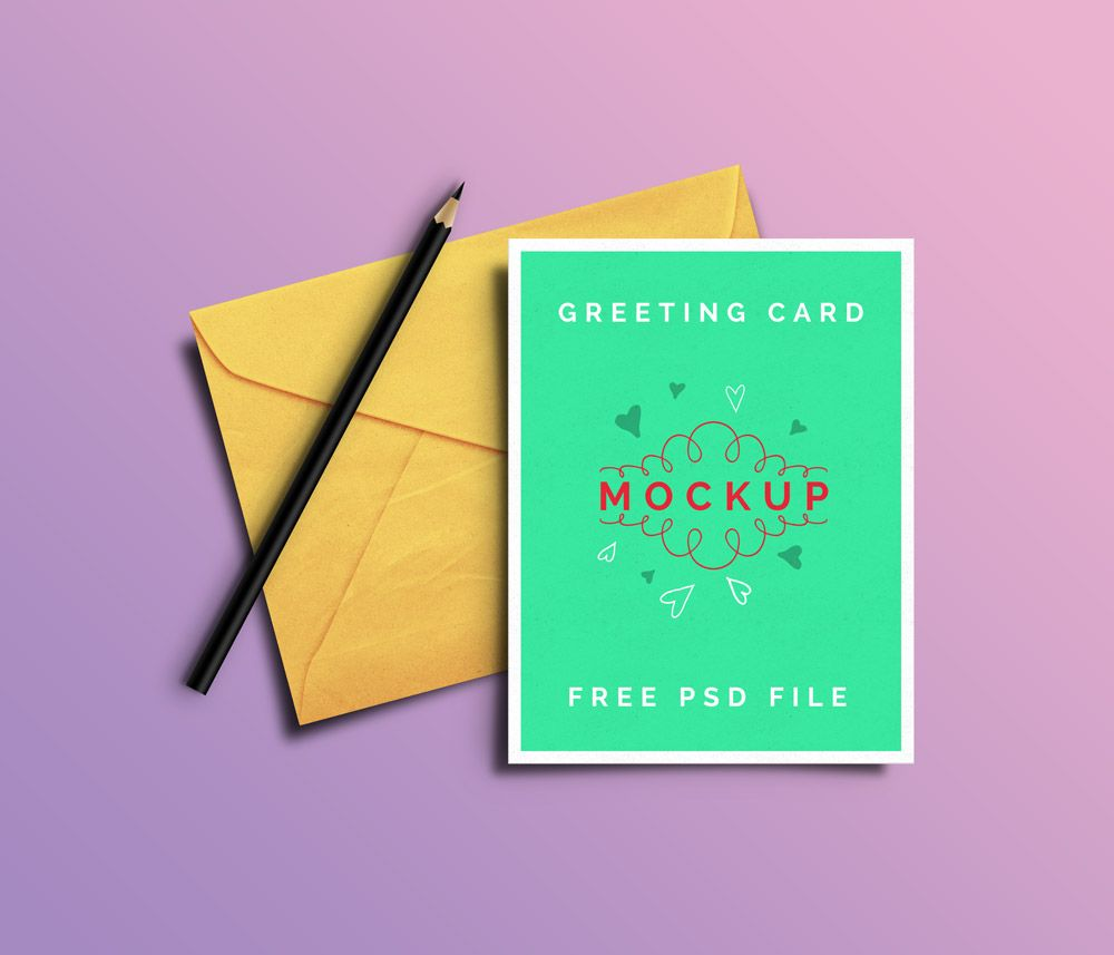 Greeting Cards Printing Mockup And Card Printing