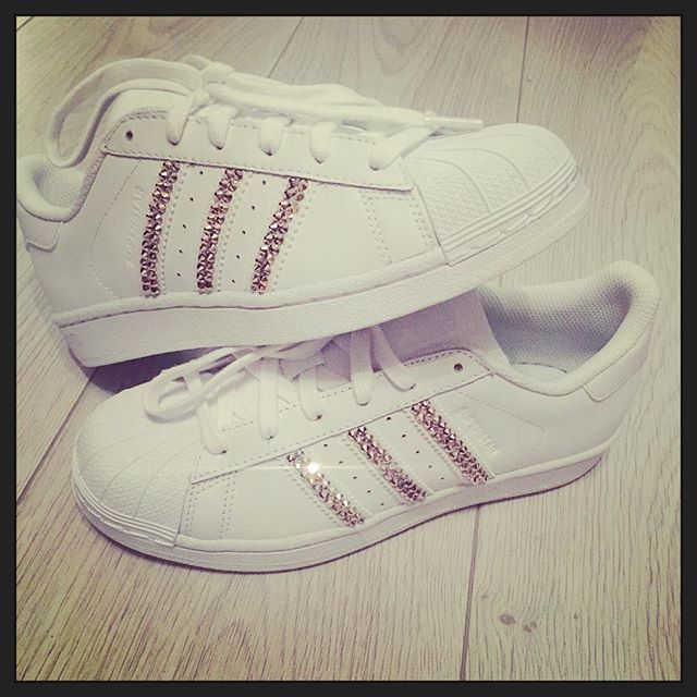 mulpix My new favourites!! Rose gold Swarovski Adidas