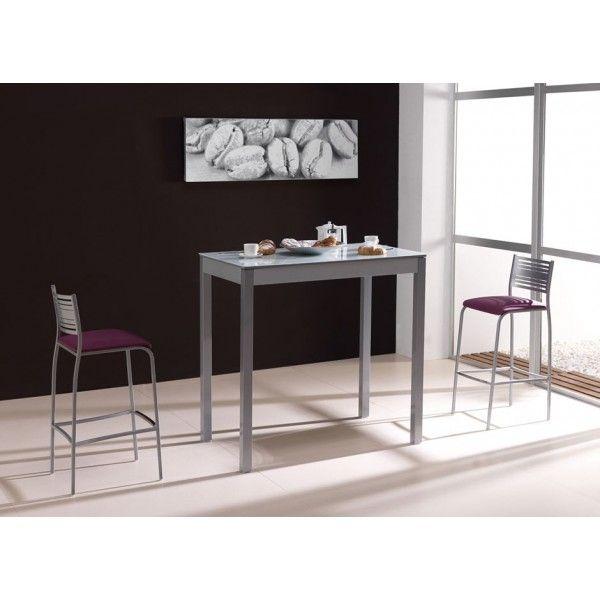 Mesa de cocina lima cristal en formato alta para poder - Mesa alta cocina ...