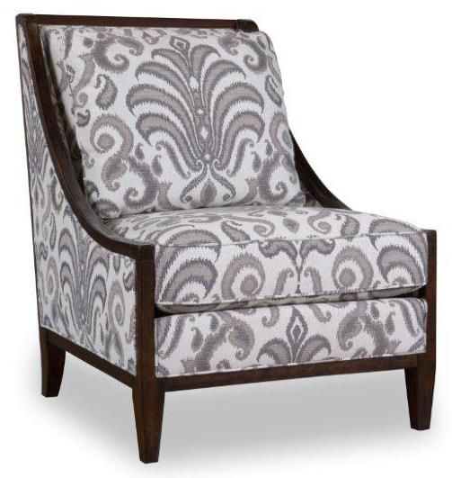 Accent Chair Swoop Wood Siding: Morgan Wood Frame Accent Chair With Swoop Arms By A.R.T