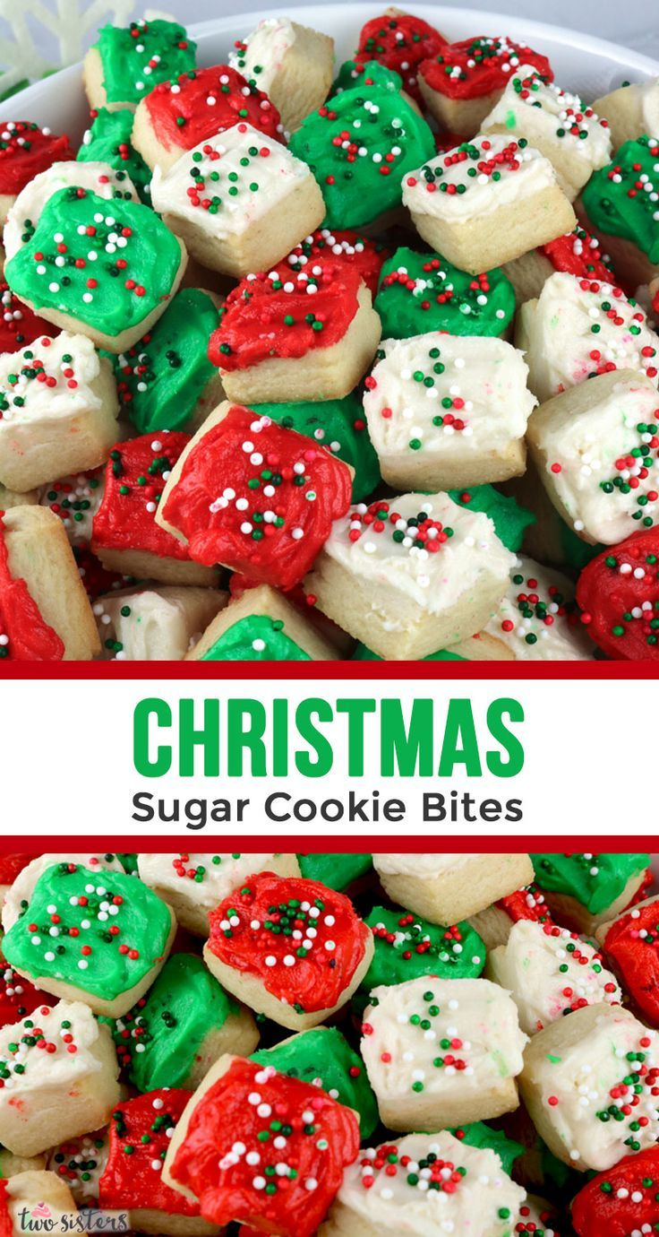 Christmas Sugar Cookie Bites - Two Sisters