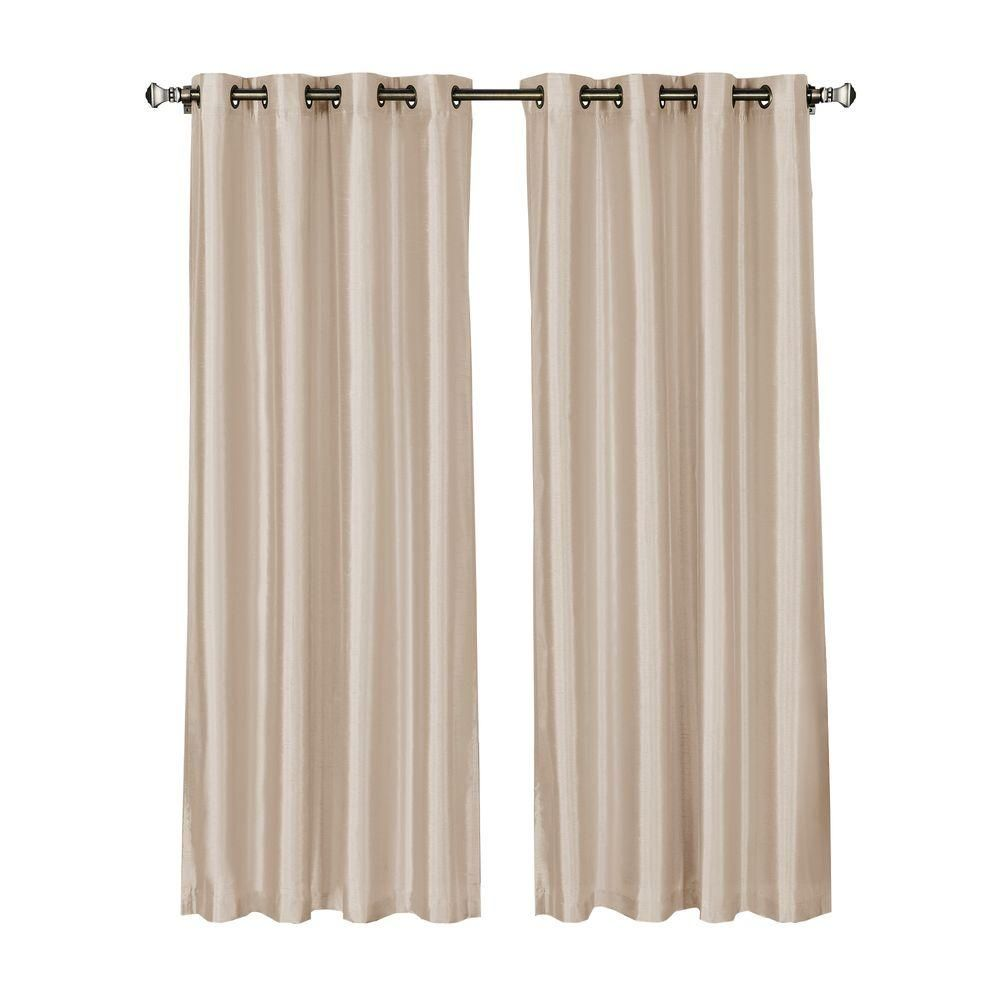 Extra Wide Curtains Window Elements Jane Faux Silk 54 In W X 95 L Grommet