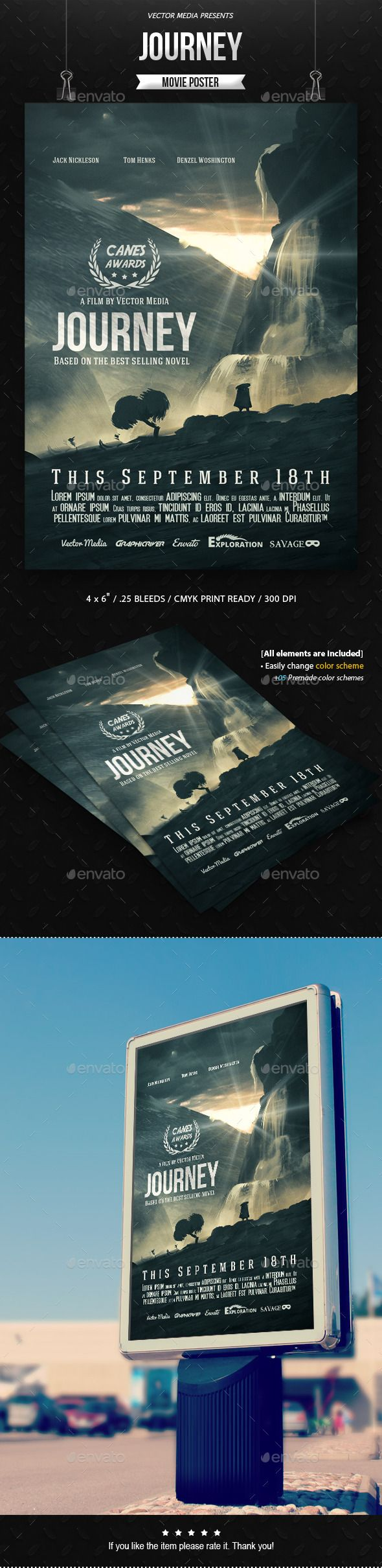 Journey - Movie Poster | Cd cover, Flyer template and Movie