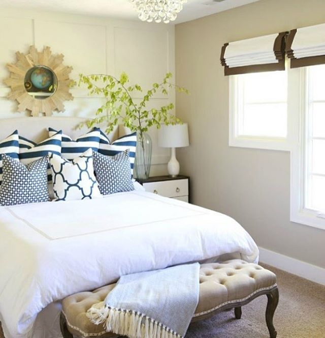 This month's Pretty Project Party is live! Head on over and link up your projects #ontheblog or share a pic on IG with the #prettyprojectparty hashtag. We will be featuring our favorites throughout the week and our top picks on all 6 blogs next Thursday. We can't wait to see what you have been up to--like this gorgeous bedroom from our co-host @lifeonvirginiastreet, it is perfect for summer! #linkparty #summer #projects #bedroom #blue