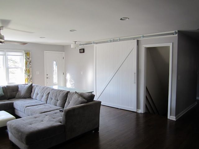 I Like The Barn Door Idea But Maybe To Cover An Open Staircase In