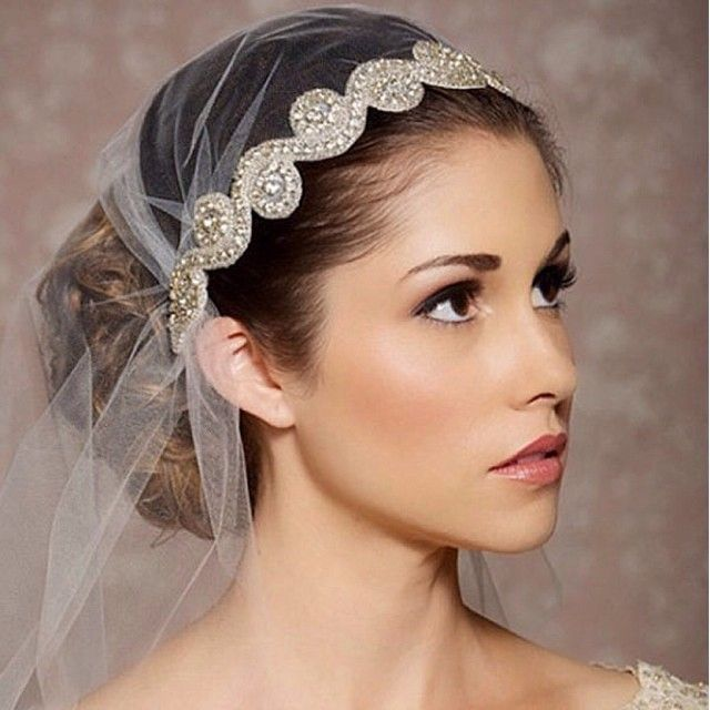 Short Bridal Veils and Headpieces | ... Pinterest Wedding Hairstyles ...