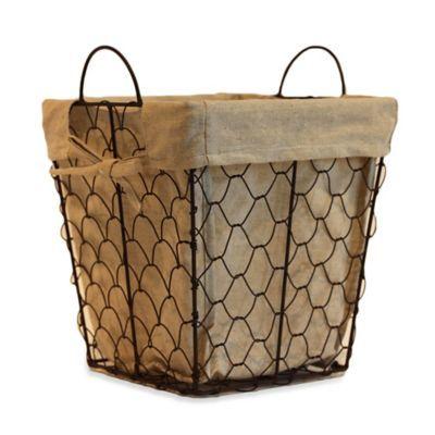 Chicken Wire Waste Basket - BedBathandBeyond.com clearance $8