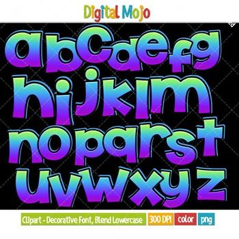 Clipart Decorative Font Blend Series 1 Lowercase Clipart For