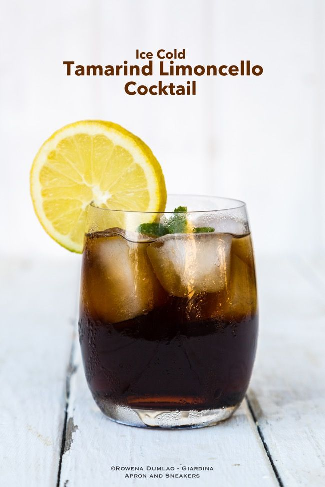Ice Cold Tamarind and Limoncello Cocktail #limoncellococktails
