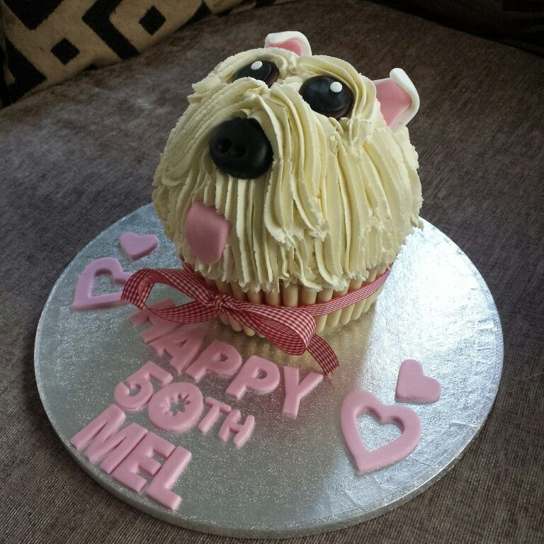 Westie Giant Cupcake