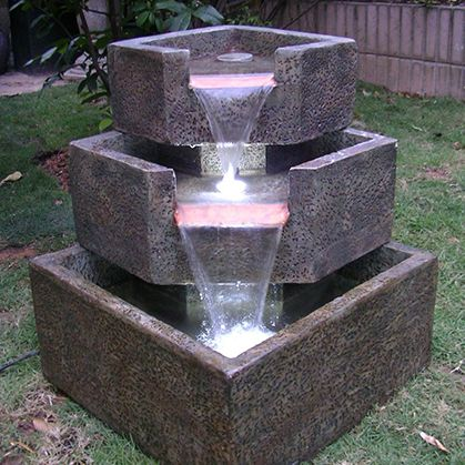 349 50 Stair Step Falls Electric Fountain W Led Lights Now At Fountains