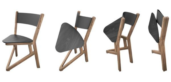 Solid Wood LADU Chair Folds Flat For Easy Storage. Interesting Design. Not  Sure How
