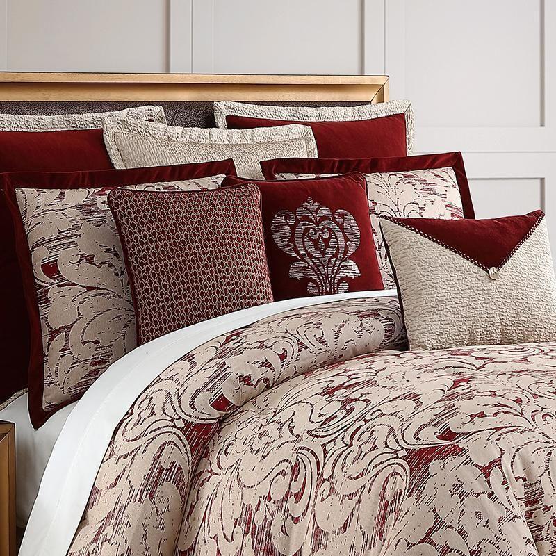 Veratex Allouette Medallion Red 4 Piece Comforter Set