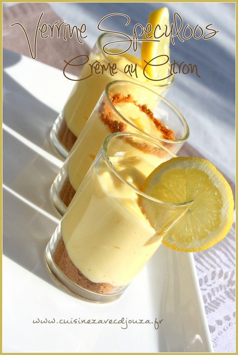 Verrine speculoos crème au citron