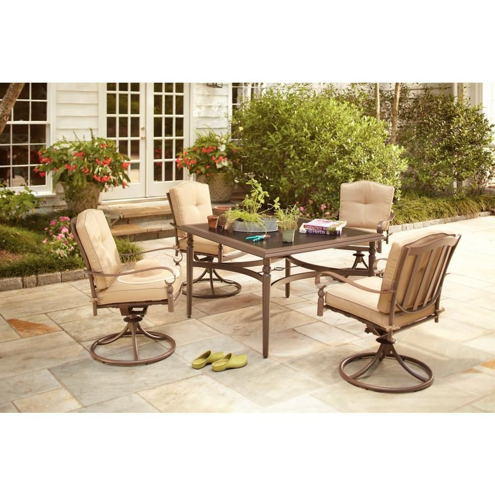 Home Depot Design Ideas: Hampton Bay Eastham 5-Piece Patio Dining Set-723.002.004