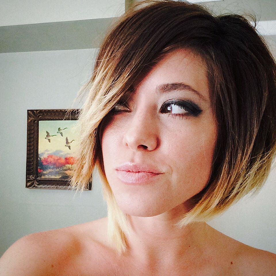cut and colored my own hair, asymmetric bob short ombré. | pretty